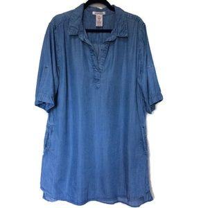 Philosophy Popover Chambray Shirt Dress sz XXL